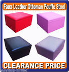 Storage Pouffe Cube Foot Stool Seat Ottoman Toy Chest Box With Lid Faux Leather