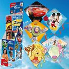 DISNEY PLASTIC DIAMOND KITE. 5 DESIGNS. MICKEY, PRINCESS, CARS, TOY STORY & POOH