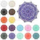 Optional Style & Color Handmade Cotton Lace Parasol Umbrella For Bridal Wedding