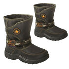 BOYS WINTER SNOW MOON BOOTS KIDS WARM FUR THERMAL SKI APRES SHOES SIZE 6 -2UK