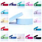 25m ROLL - 18mm or EXTRA WIDE 30mm- PLAIN - EUROPEAN BIAS  BINDING ALL COLOURS