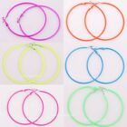 New 10Pcs Candy Color Circle Eardrop Basketball Wives Stud Hoop For DIY Jewelry