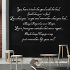 """""""Remember Life Goes On"""" Removable Wall Art Quotes Vinyl Decal Sticker Home Decor"""