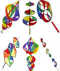 SHAPED WIND SPINNERS FOR TELESCOPIC WINDSOCK FLAG POLE