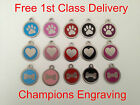 Pet ID Dog Tag 32mm Stainless Steel-FREE ENGRAVING/ FREE P&P-Posted within 24hrs