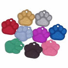Aluminium Pet ID Dog Paw Identity Tag - Engraved FREE - Fast Delivery