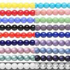 16 inch Strand Round Czech Glass Druk Beads In Many Opaque Colors & Sizes