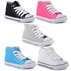 New Boys Girls Kids Juniors Babies Comfy Lace Up Hi Top Trainers Booties Shoes