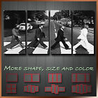 ' Abbey Road The Beatles ' Modern Contemporary Wall Art Deco Canvas ~ 4 Panels