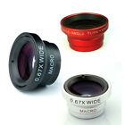 New 0.67x Detachable Wide Angle+Micro Lens Kit camera for iPhone 4S 5 Cell Phone
