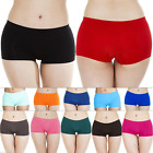 New Womens Knickers Plain Panties Pants Ladies Underwear Boxer Shorts Size S M L