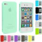 Color TPU Plain Rubber Jelly Skin Case Cover for iPhone 4S 4G 4 Accessory