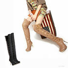 Women's Over Knee High Heel Lace Up Boots Sexy Platform Shoes AU All Size Y525