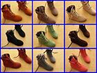 Women Lace Up Winter Boots Flat Ankle Shoes Spring Autumn 9 colors