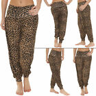 New Womens Ladies Ali Baba Harem Leopard Print Trousers Sexy Pants 8-14 S M L XL