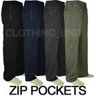 T4 Semi Elasticated Waist Action Combat Cargo Walking Work Trousers 9 Pockets