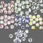 12 Lampwork Glass 10mm Round Ribbon Awareness Beads with Many Colors to Choose