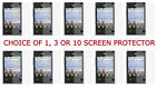 1,3 OR 10 Clear Film Screen Protector for LG Optimus Logic L35g Prepaid Phone