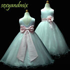 UKMD59B L.Pink Wedding Party Flower Girls Dress 1,2,3,4,5,6,7,8,9,10,11,12,13