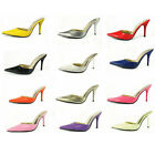 US5-10 Candy Patent Leather pointy toe Mules Sandal OL Club fashion womens shoes