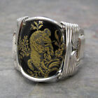 Aries Zodiac Astrology Sign Sterling Silver Wire Wrapped Ring ANY Size