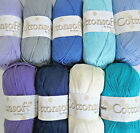 COTTONSOFT by KING COLE 100% SOFT RAW COTTON, 100G  BALLS DK WOOL AND YARN