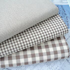 VINTAGE BROWN - VINTAGE KENT 2 YARN DYED GINGHAM - COTTON FABRIC cream ground