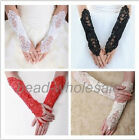1Pc Wedding Party Dress Fingerless Pearl Lace Satin Bridal Gloves