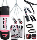 RDX 17 Piece Ladies Boxing Set 5FT 4FT Filled Punch Bag,Gloves,Bracket Womens P