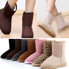 New Ladies Womens Faux Suede Falt Boots Fur Lined Winter Mid Calf Snow Boots