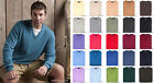 Hawick Knitwear Mens Jumper 100% Lambswool Crew Neck & V Neck Made in Scotland