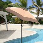 SUPERNOVA 9ft Aluminum Outdoor Patio Umbrella Market Yard Beach w/ Crank Tilt