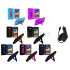 Hybrid Case Cover Stand+Charger for Samsung Attain Galaxy S2 II i9100