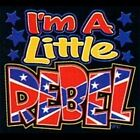 Kids Youth Shirt I'm A Little Rebel Southern Dixie Redneck Confederate Boy Girl