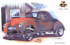 Hot Rod Coupe, In front of old garage.  New T-Shirt 256
