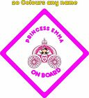 Personalised Baby on Board Car Stickers Decals A678