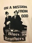BLUES BROTHERS, Mission from GOD! T SHIRT T-SHIRT Black & white stencil
