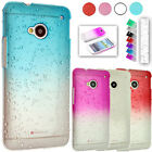 Ultra Thin Crystal Series Rain Drop Hard back Cover Clear Case for Mobile Phones