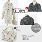 JAPAN FASHION TELFON LADY'S HOODED W/ COLOR SMALL POLKA DOT RAINCOAT FREE SIZ