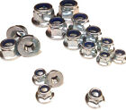 FLANGED NYLON INSERT LOCKING NUTS - ZINC - METRIC M5 M6 M8 M10 M12 NYLOCK NYLOC