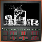 ' Drink & Ice Cube Summer ' Modern Abstract Wall Art Deco Canvas Box