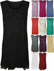 New Womens Plus Size Lace Top Sleeveless Stretch Ladies Short Party Dress 12-26