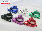Bike Bicycle BMX MTB Quick Release Seat Post Anodised Alloy Clamp 31.8 34.9 mm