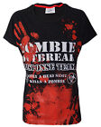 DARKSIDE CLOTHING Zombie Response Team ladies/girls BLACK t-shirt/top, blood