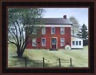 OLD BRICK FARMHOUSE by Billy Jacobs FRAMED ART PRINT 15x19 Farm House PICTURE