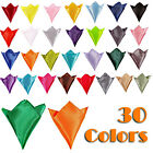 New Stylish Italian Square Satin Solid Plain Pocket Hanky Wedding Party  Dinner