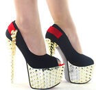 Sex Tassel Chains  With Diamante  Shimmer Studded Spike Glitter  High Heels