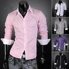 Men's Stylish Slim Comfy  Tops Basic Casual Shirt Formal Dress Shirts Size S~2XL