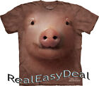 """Adult PIG The Mountain Animal T Shirt """"Pig Face"""" All Sizes  10-3244"""