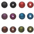 60 Big 14mm Round Rubberized Plastic Acrylic Rubber Beads With Large 2.5mm Hole